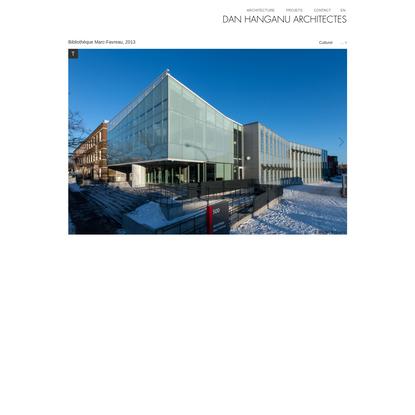 Dan Hanganu architectes - Bibliothèque Marc-Favreau