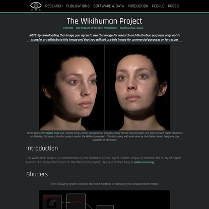 The Wikihuman Project