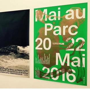#MaiauParc poster by Schaffter Sahli #villabernasconi #swissposter #schafftersahli