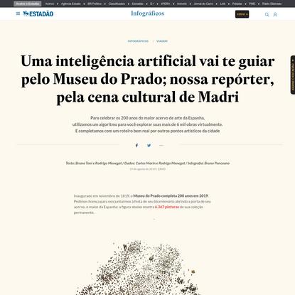 Uma inteligência artificial vai te guiar pelo Museu do Prado; nossa repórter, pela cena cultural de Madri - Infográficos - E...