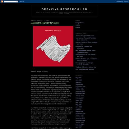 Drexciya Research Lab