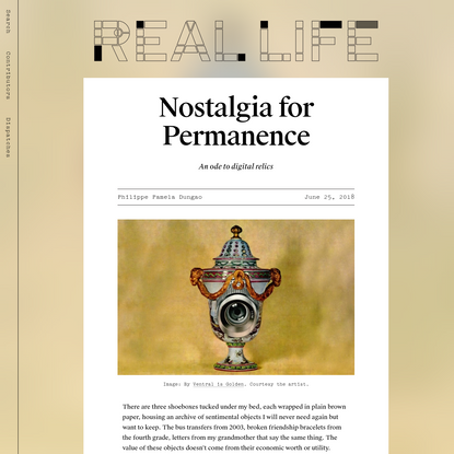 Nostalgia for Permanence - Real Life
