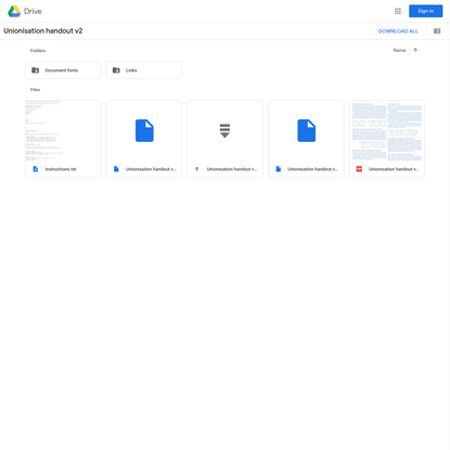 Unionisation handout v2 - Google Drive