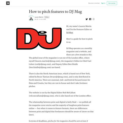 How to pitch features to DJ Mag