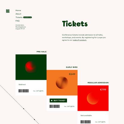 Framer - Tickets