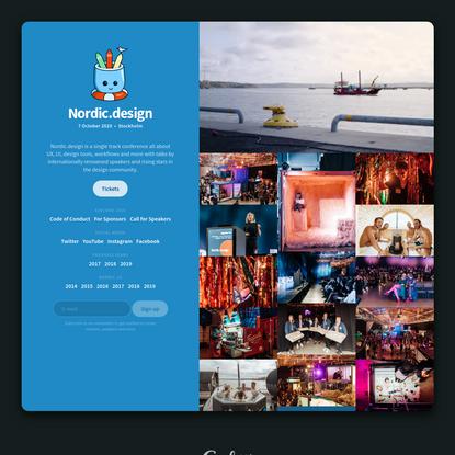 Nordic.design - 7 October 2020 - Stockholm