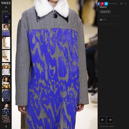 Marni Fall 2016 Ready-to-Wear Fashion Show Details - Vogue