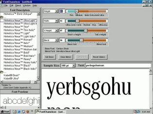 Ares FontChameleon 1.5 on Windows 98