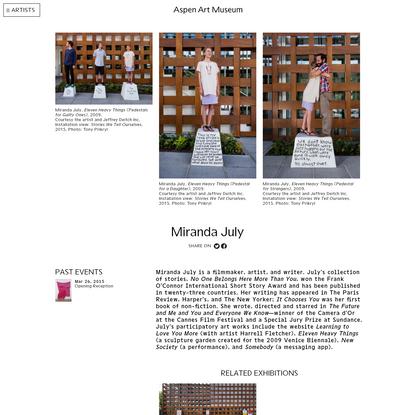 Miranda July - Aspen Art Museum