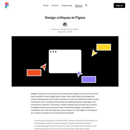 Design critiques at Figma