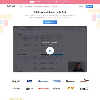 Retool - build internal tools fast.