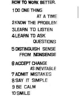 Manifesto by Fischli und Weiss, 1991