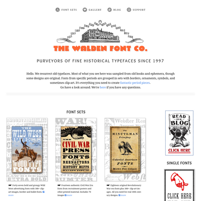 The Walden Font Co. Sellers of Fine Historical Fonts