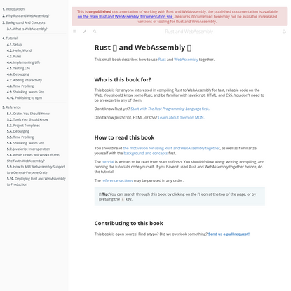 Rust and WebAssembly