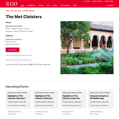 The Met Cloisters