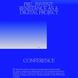 Pre-Invent