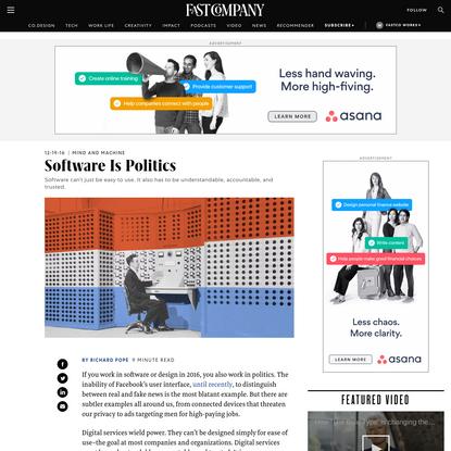 Software Is Politics