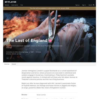 Watch The Last of England - BFI Player