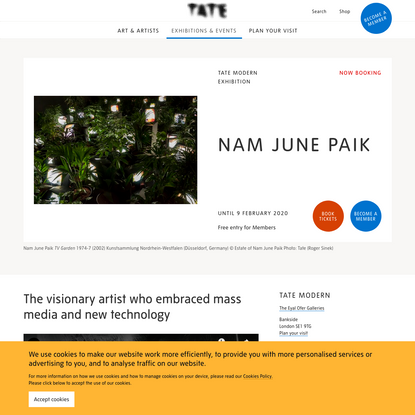 Nam June Paik - Exhibition at Tate Modern | Tate