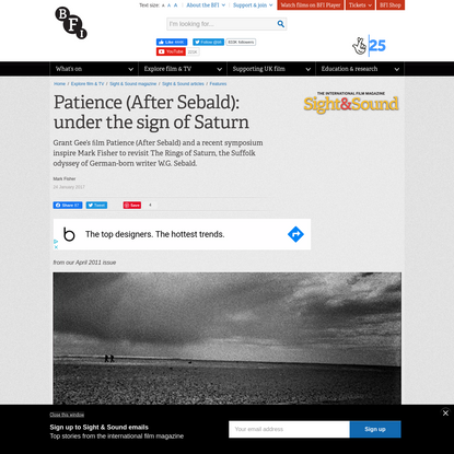 Patience (After Sebald): under the sign of Saturn | Sight & Sound