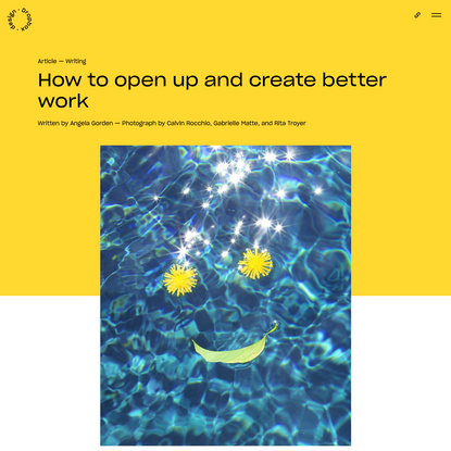 How to open up and create better work | Dropbox Design