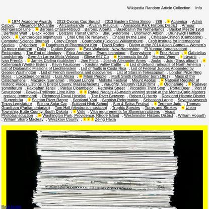 Wikipedia Random Article Collection