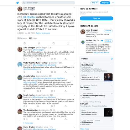 Áine Groogan on Twitter