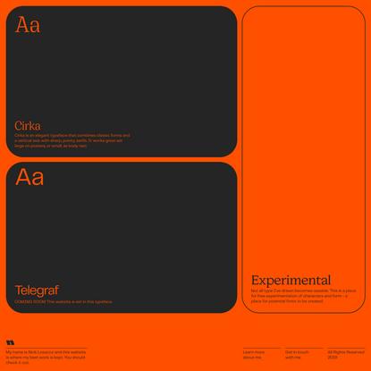 Nick Losacco - Typefaces