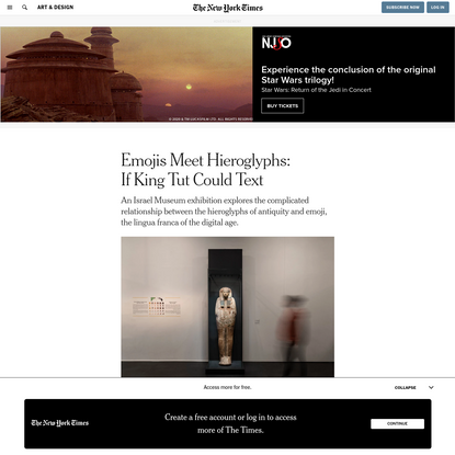 Emojis Meet Hieroglyphs: If King Tut Could Text