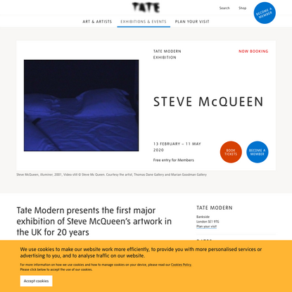 Steve McQueen - Exhibition at Tate Modern | Tate