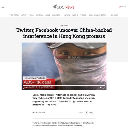 Twitter, Facebook uncover China-backed interference in Hong Kong protests