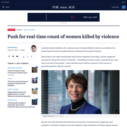 Push for real-time count of women killed by violence