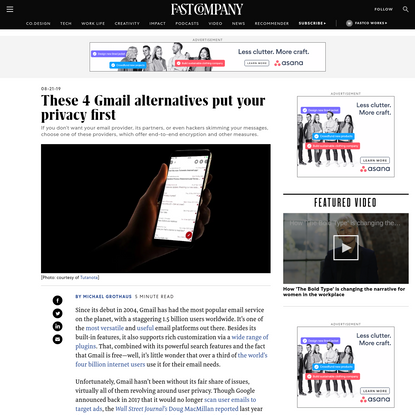 These 4 Gmail alternatives put your privacy first