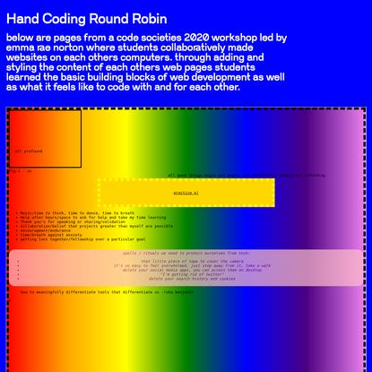 Hand Coding Round Robin
