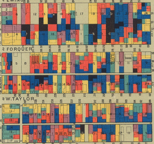 Wage Maps. Hull House. 1895.  David Rumsey