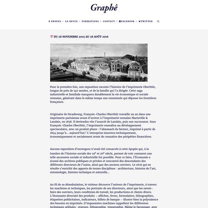 Graphê | Oberthür, imprimeurs à Rennes