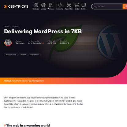 Delivering WordPress in 7KB   CSS-Tricks