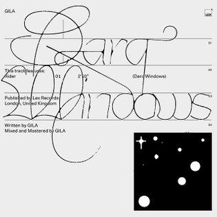 """Stream GILA's new single """"Darq Windows"""" now. Artwork by me"""