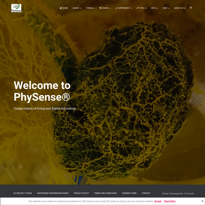 PhySense - Unique fusion of living and digital technology