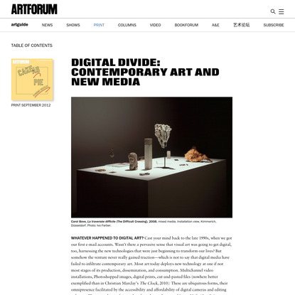 DIGITAL DIVIDE: CONTEMPORARY ART AND NEW MEDIA