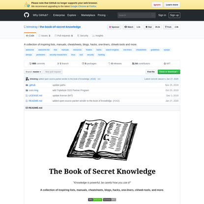 trimstray/the-book-of-secret-knowledge