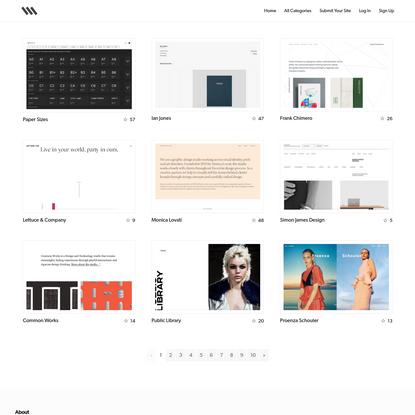 Siiimple * A Minimalist Website Gallery