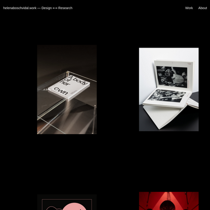 helenaboschvidal.work ― Design ⟷ Research