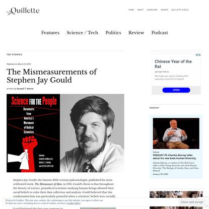 The Mismeasurements of Stephen Jay Gould - Quillette