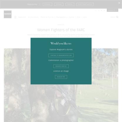 Women Fighters of the FARC * Newsha Tavakolian * Magnum Photos
