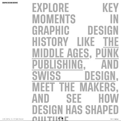 Graphic Design Archive | Webflow