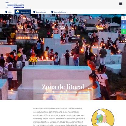 Litoral Montes de María - Recorridos por los paisajes de la violencia en Colombia