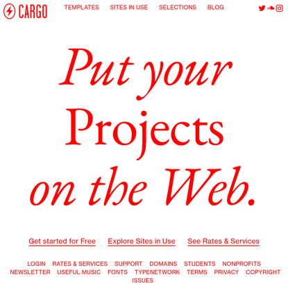 Put your projects on the Web.