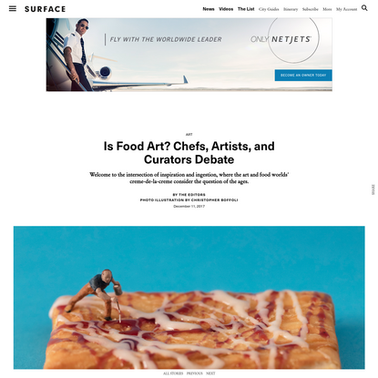 Is Food Art? Chefs, Artists, and Curators Debate - SURFACE