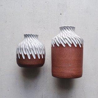 Big & small variations on a theme that I'll have at @artistsandfleas SoHo next week! . . . . . #ceramics #stoneware #pottery...